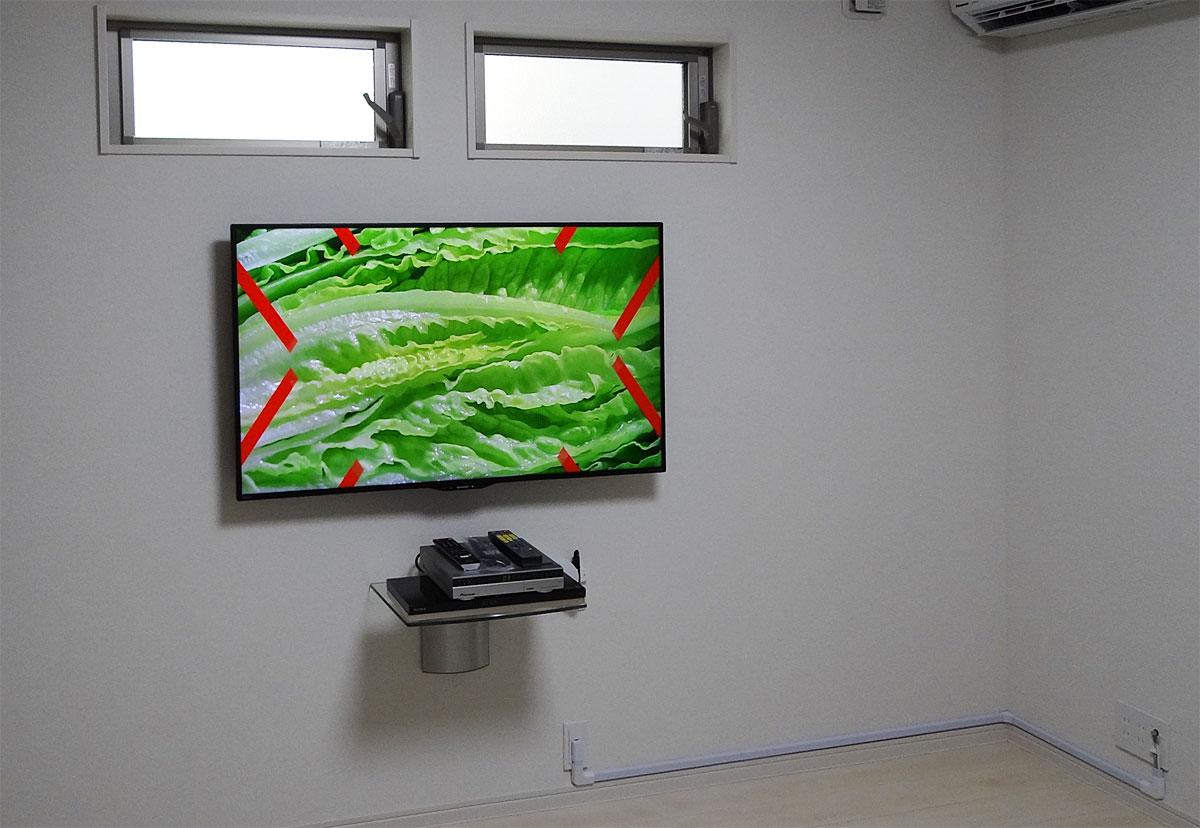 三重県津市のお客様宅にてシャープノテレビを壁掛けしました。