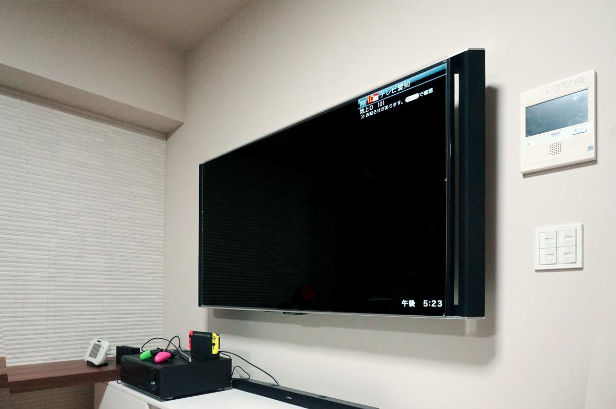 将来性を考え、HDMIやUSB延長ケーブルなど多数のケーブル類をあらかじめ壁内に通してあります。
