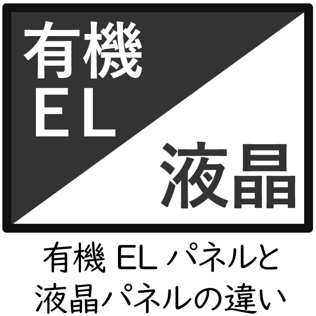 有機ELパネルと液晶パネルとの技術的な違い