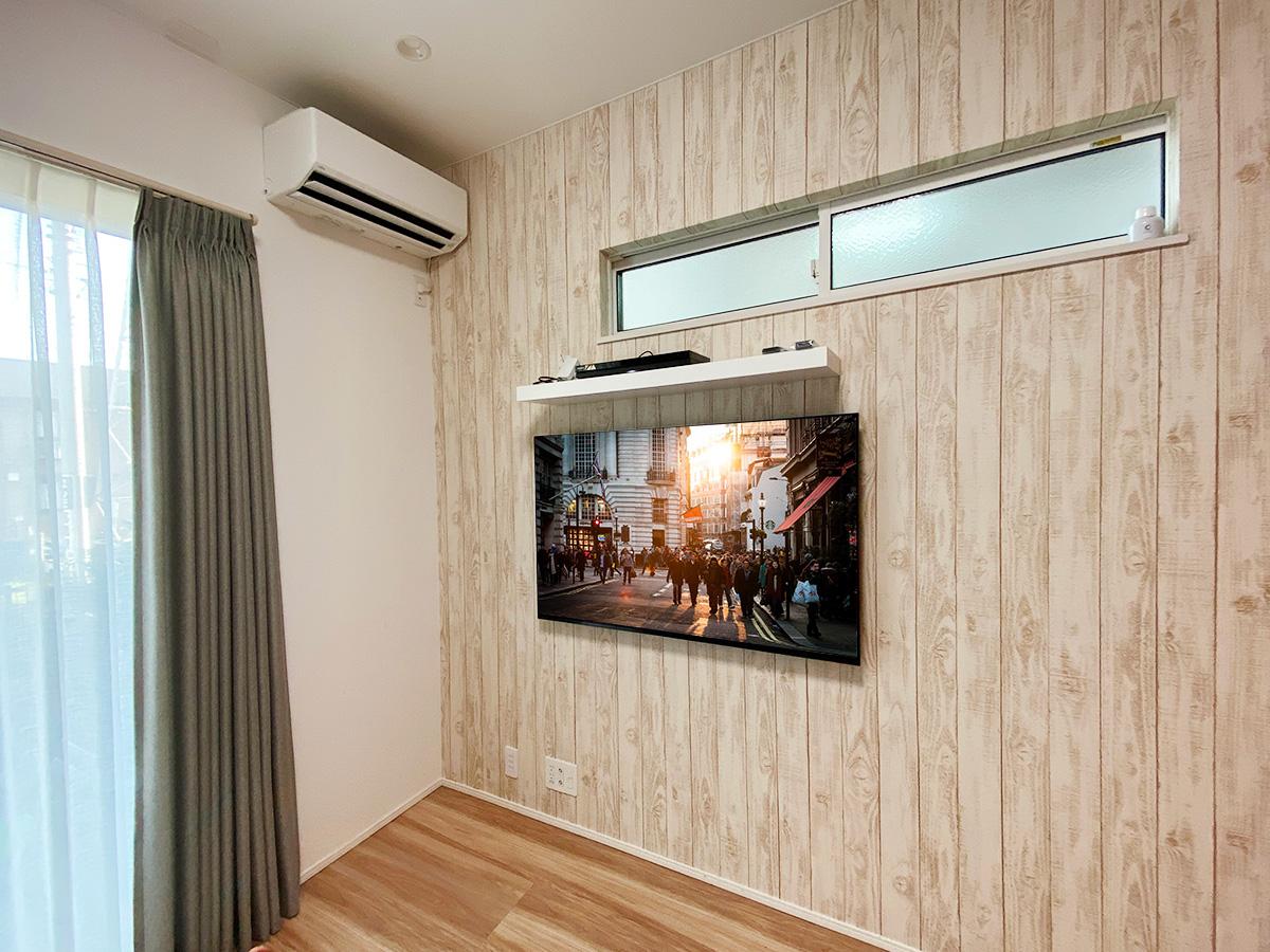 SONYの有機ELテレビを壁掛け